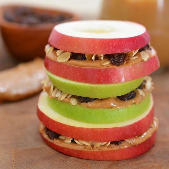 Apple Peanut Butter Sandwich, sandwich dari buah apel