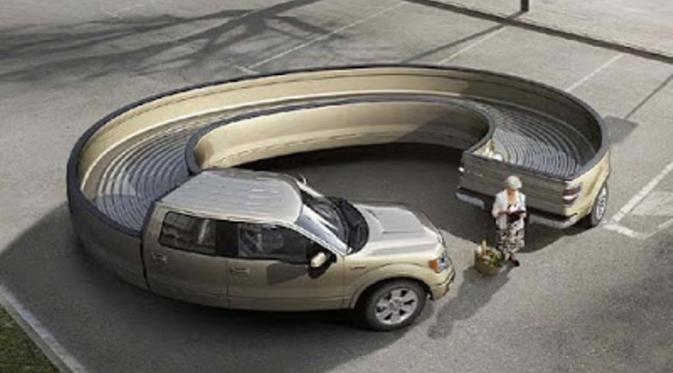 Mobil Setengah Melingkar