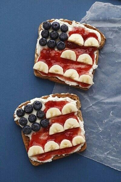 Sarapan Terasa Manis dan Sehat dengan Roti Panggang Bendera Amerika