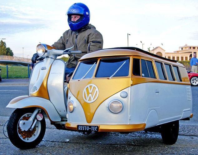 Vespa dan VW Combi