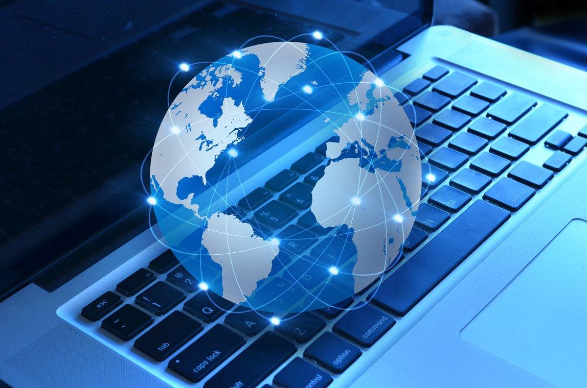 ilustrasi koneksi internet dunia maya