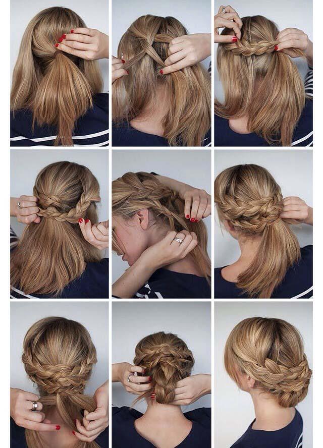 model rambut kepang konde