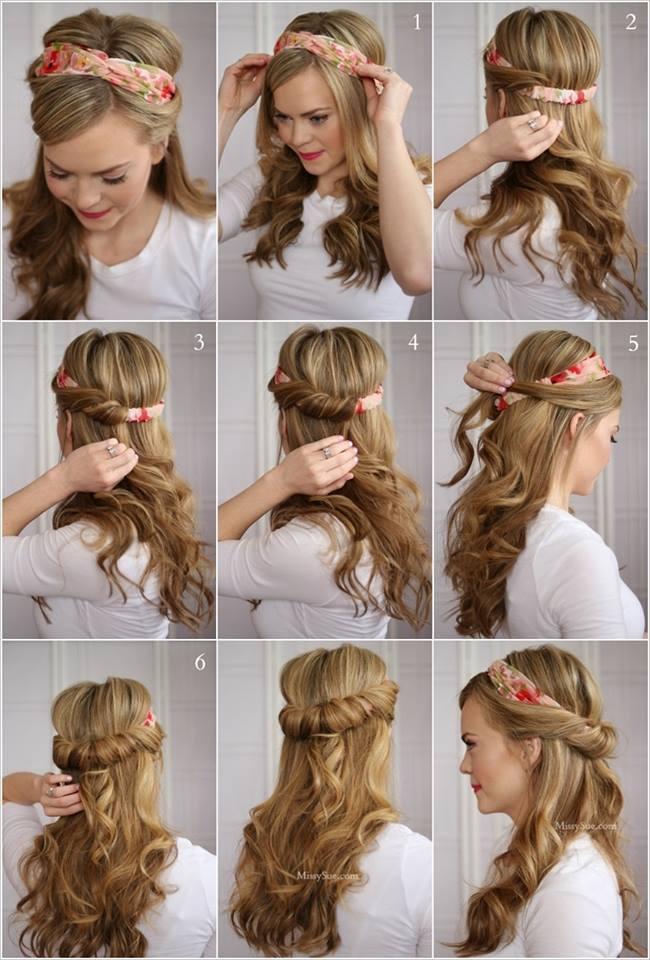 Model rambut dengan bando