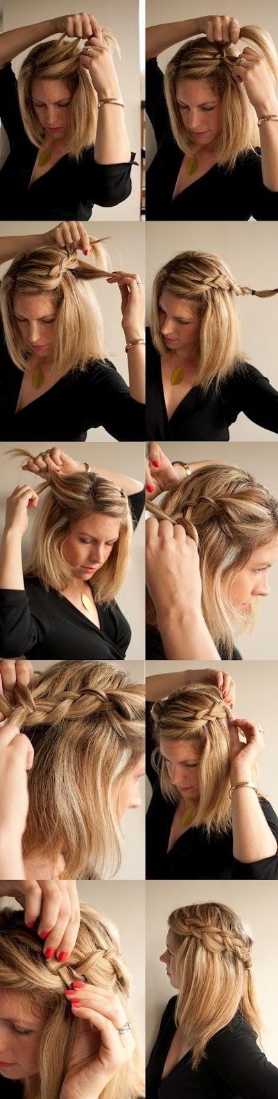 model rambut kepang casual