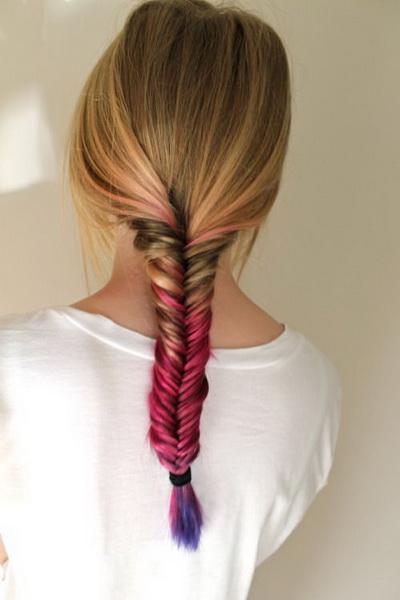 gaya rambut kepang fishtail