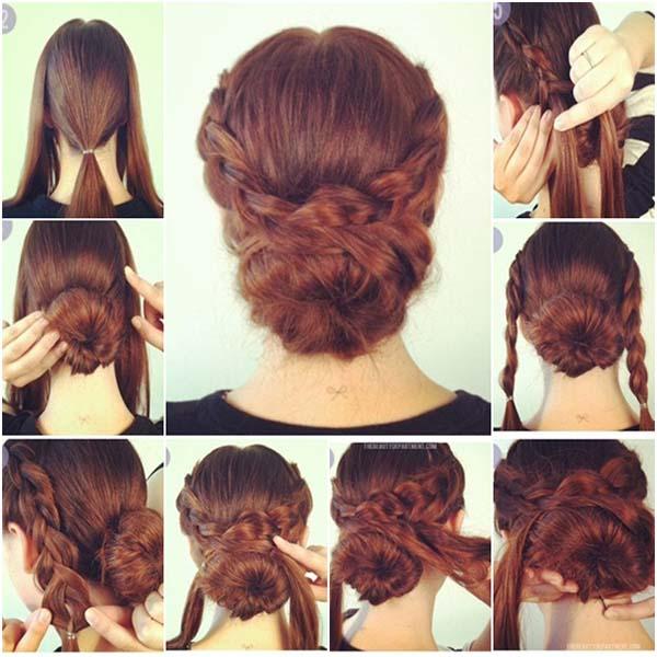 rambut kepang konde