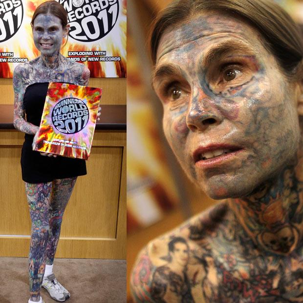 Julia Gnuse Wanita Dengan Tatto Terbanyak Di Dunia_anehtapinyata.net