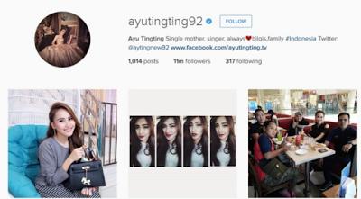ayu ting-ting, artis dengan follower instagram terbanyak