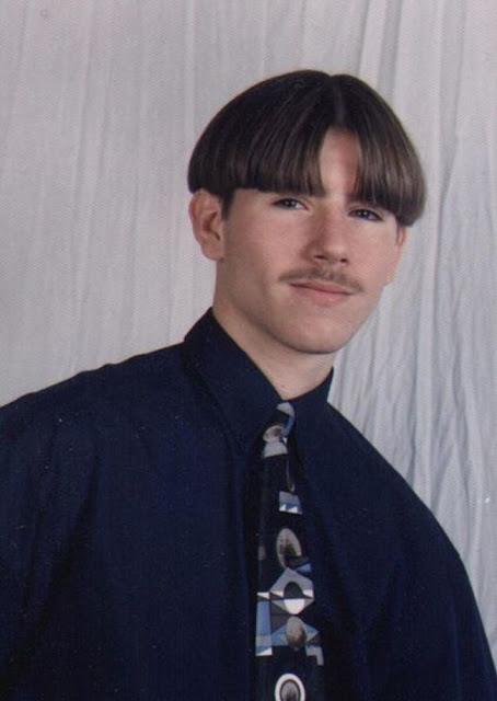 gaya rambut tahun 90an belah tengah