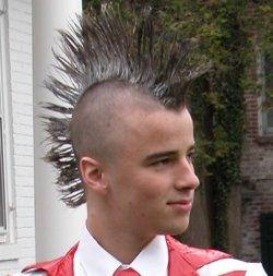 gaya rambut tahun 90an mohawk