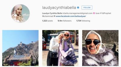 laudya cynthia bella dengan follower instagram terbanyak