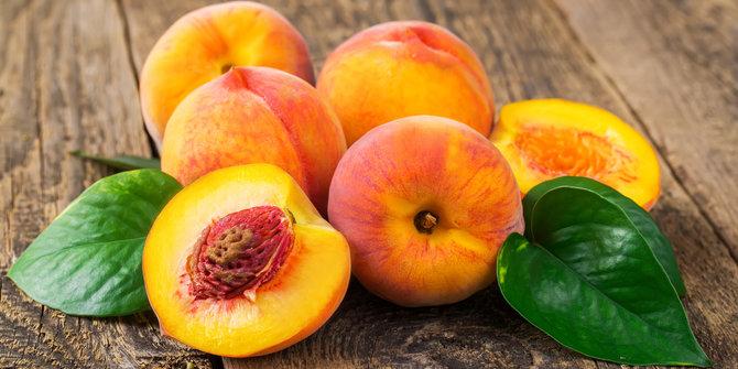 persik, buah-buahan super kuatkan jantung