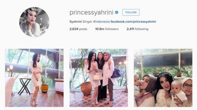 syahrini, follower instagram paling banyak