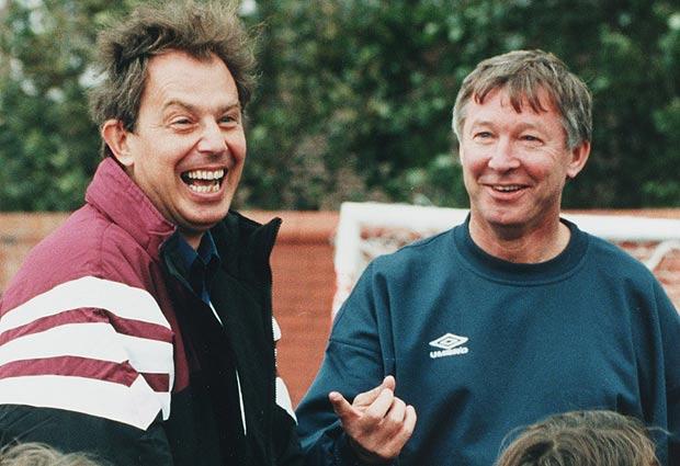 Tony Blair and Alex Ferguson