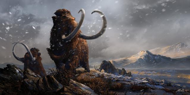 prehistoric_mammals_woolly_mammoths_by_balcsika-d78cv9a