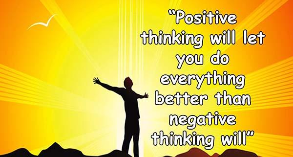 Selalu berpikiran positif