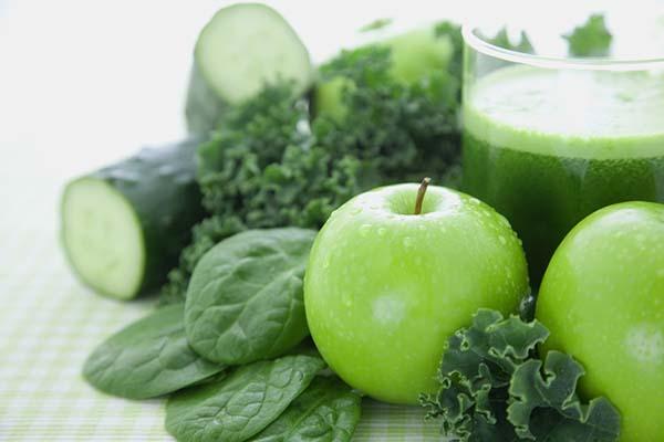 Buah dan sayur hijau