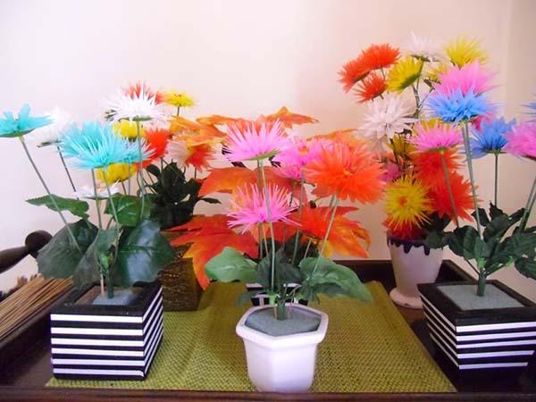 Bunga Plastik Bahan Sedotan