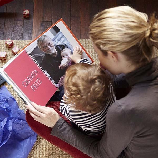 Ibu dan anak sedang melihat gambar