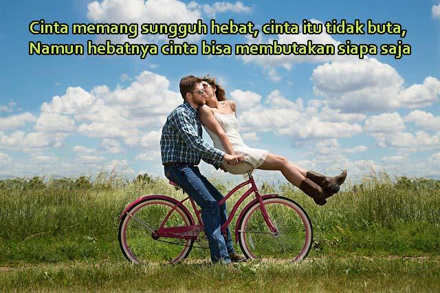 Gambar Kata Romantis, Cinta Memang Buta