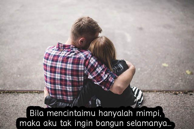 Gambar Kata Romantis, Mencintaimu Hanyalah Mimpi