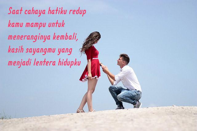 Gambar Kata Romantis, Kasih Sayangmu Lentera Hidupku