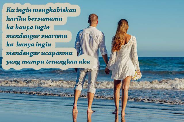 Gambar Kata Romantis, Bersamamu Aku Tenang