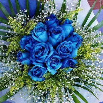 Filosofi bunga mawar biru