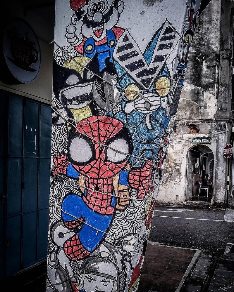 Gambar keren di tembok